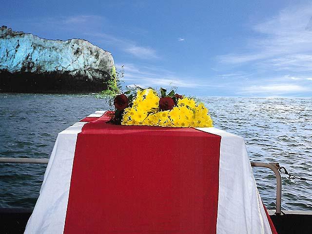 A Britannia Shipping Burial At Sea